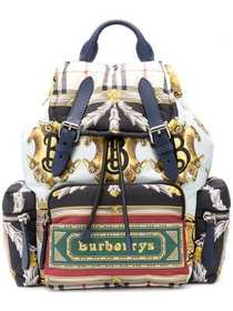 Burberry multicoloured logo archive scarf backpack