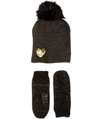 Betsey Johnson Heart to Heart Hat Gloves Two-Piece