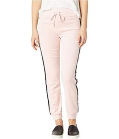 Juicy Couture Track Velour Pearl Embellished Pants