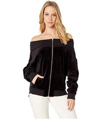 Juicy Couture Track Velour Ruched Off the Shoulder
