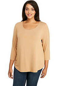 The Limited Plus Size Three-Quarter Sleeve Fashion