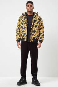 Forever21 Baroque Print Puffer Jacket