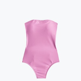 J. Crew Cross-back bandeau one-piece swimsuit