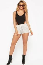 Forever21 Marled Distressed French Terry Shorts