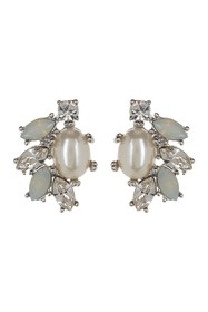 Marchesa Simulated Pearl & Crystal Button Cluster