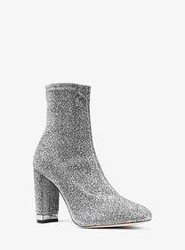 Michael Kors Mandy Glitter Stretch-Knit Ankle Boot