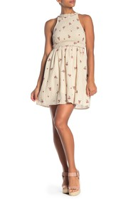 Taylor & Sage Smocked Embroidered Dress