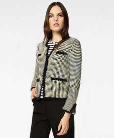 Brooks Brothers Checked Cotton Sweater Jacket