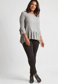 ModCloth ModCloth Ponte Leggings with Zippers in B