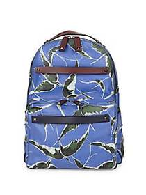 Valentino Garavani Printed Leather Backpack INDIGO