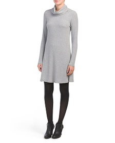 PHILOSOPHY Long Sleeve Cowl Neck Ribbed Dress