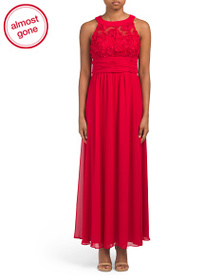 SCARLETT Long Gown With Soutache Top