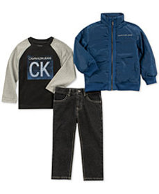 Calvin Klein Little Boys 3-Pc. Shirt, Jeans & Jack