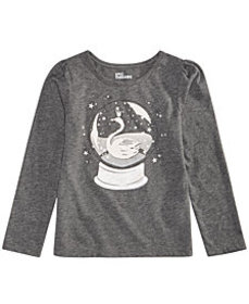Epic Threads Little Girls Long-Sleeve Snow Globe T