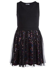 Epic Threads Big Girls Sequin Mesh Dress, Created