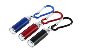 Mini Convex Mirror LED Flashlight Torch key chain