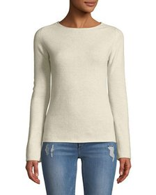 Neiman Marcus Basic Cashmere Crewneck Pullover Swe