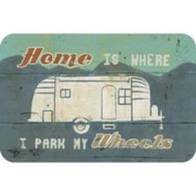 "Reversible Placemat, ""Home is Where I Park My"