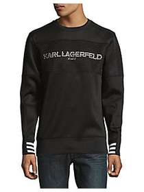 Karl Lagerfeld Quilted Graphic Sweater BLACK