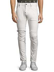 G-Star RAW 5620 3D Sllim Fit Zip Knee Jeans WHITE