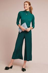 Anthropologie Holiday Wide-Leg Pants
