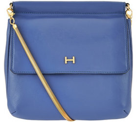 H by Halston Smooth Leather Crossbody Handbag with