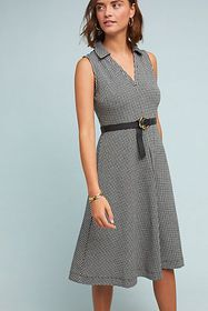 Anthropologie Collared Gingham Dress