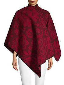 Burberry Classic Floral Poncho PLUM