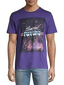 Jack & Jones Graphic Cotton Tee DEEP WISTERIA