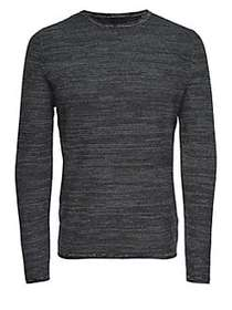 Only and Sons Structure Melange Knit Sweater BLACK