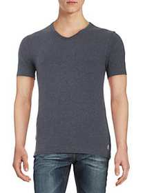 Original Penguin Cotton V-Neck Tee BLUE