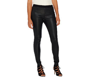 H by Halston Stretch Leather & Ponte Knit Pull-On