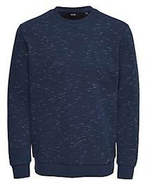 Only and Sons Textured Crewneck Sweater DRESS BLUE