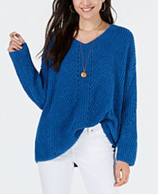 Style & Co Cozy Chenille V-Neck Sweater, Created f