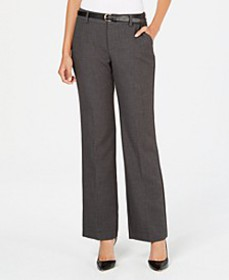 Charter Club Belted Tummy-Control Trousers, Create