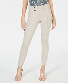 I.N.C. Tab-Front Skinny Ponte Pants, Created for M