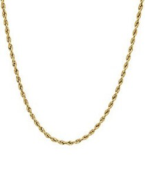 Lord & Taylor 14K Yellow Gold Glitter Ultimate Rop