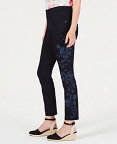 Style & Co Floral-Print Skinny Jeans, Created for