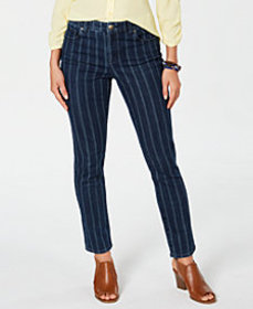 Style & Co Striped Skinny Ankle Jeans, Created for