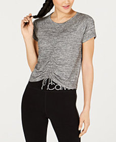 Calvin Klein Performance Ruched-Front Cap-Sleeve T