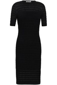 T by ALEXANDER WANG Paneled pointelle and ribbed-k