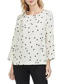 Vince Camuto Sunrise Bay Floral Bell Sleeve Blouse