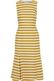 DOLCE & GABBANA Open-back striped cotton-blend mid
