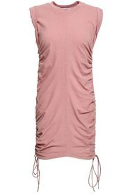 T by ALEXANDER WANG Ruched cotton-jersey mini dres