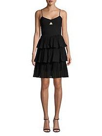 Cooper St Tiered Fit-&-Flare Dress BLACK