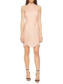 Bardot Alice Lace Bodycon Dress LATTE PINK