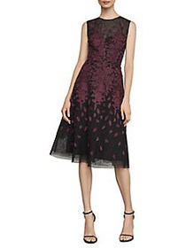 BCBGMAXAZRIA Floral Embroidered Evening Dress BORD