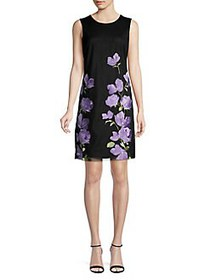 Karl Lagerfeld Paris Floral Embroidered Sheath Dre