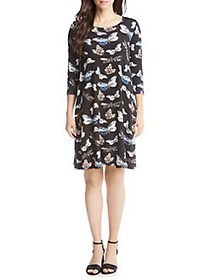 Karen Kane Chloe Printed Shift Dress BLACK PRINT