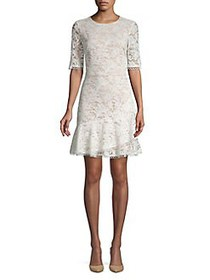 Vince Camuto Lace Fit-&-Flare Dress IVORY